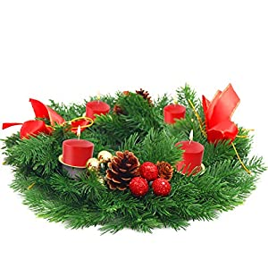 BELLE VOUS Corona Navidad Velas