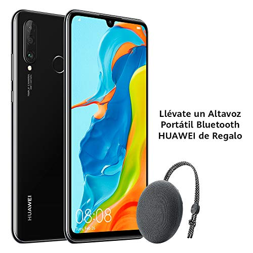 Huawei P30 Lite - Smartphone de 6.15' (WiFi, Kirin 710, RAM de 6 GB, memoria de 256 GB, cámara de 48+2+8 MP, Android 9) Negro + CM51 Gris