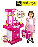 #9: Zest 4 Toyz Kitchen Set Kids Luxury Battery Operated Kitchen Super Set Toy