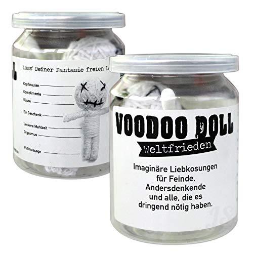 Preis am Stiel Voodoo Doll ''Weltfrieden'' | Voodoo Puppe | Esoterik Geschenke | Puppe in Dose | lustige Geschenke | Weltfrieden Geschenk