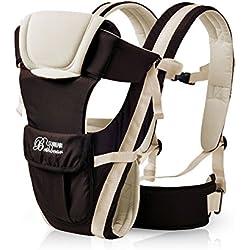 0–30meses transpirable bebé Carrier frontal 4en 1lactante cómodo Sling Mochila bolsa para el bebé canguro nuevo beige beige