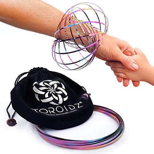 (Regenbogen) + Samtbeutel - Wunderbares Magisches Spielzeug - 3D ARM Slinky - Wissenschaft, Zirkus, Magic Anti Stress Toy - Alle Altersgruppen ()