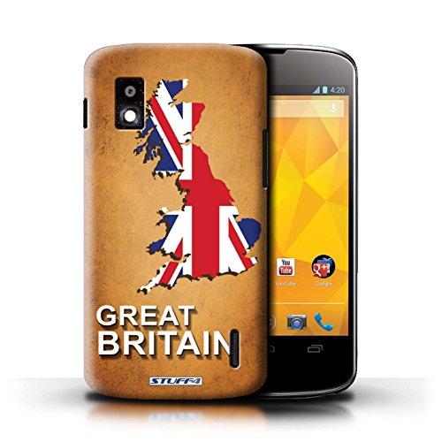 Kobalt® Imprimé Etui / Coque pour LG Nexus 4/E960 / Suisse/Swiss conception / Série Drapeau Pays grande-Bretagne