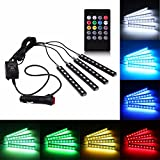 #6: Rally 4-in-1 music Controller Car Interior RGB LED Strip Light Lamp with remote controller