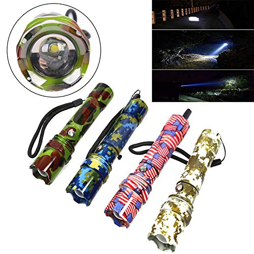 P12cheng LED-Taschenlampe, Handtaschenlampe, LED-Taschenlampe, 350 Lumen, hell, wiederaufladbar, Camouflage-Licht, Pink, Kunstharz, rose, Flashlight Set