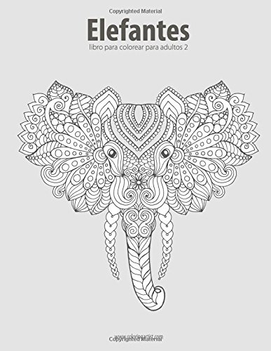 Elefantes libro para colorear para adultos 2: Volume 2