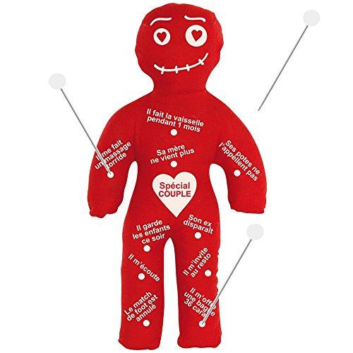 Promobo Set Geschenk Voodoo-Puppe mit 10Nadeln, Rot