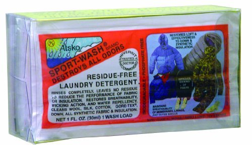 Atsko Sno-Seal sport-wash Laundry Detergent (1-fluid Ounce pillow-pack, 10 per Clear