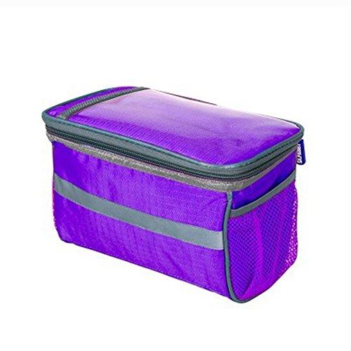 Lenkertasche Berührungsempfindlicher Bildschirm Pannier Reiten Einer Handytasche purple