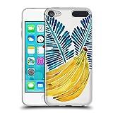 Head Case Designs Offizielle Cat Coquillette Bananen Blau Tropisch Soft Gel Hülle für Apple iPod Touch 6G 6th Gen