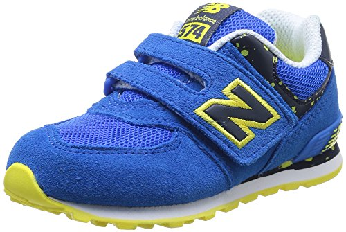 New Balance KG574 Unisex-Kinder Sneakers Blue/Yellow Suede/Mesh