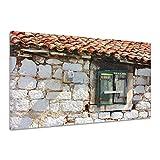 Architektur Dach Fensterläden Stein Alt Holz Leinwand Poster Druck Bild rv0755 80x60
