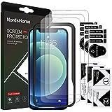 [Nords Home] Iphone 12/12 pro, Härdat glas Skärmskydd,[enkelt installationsverktyg] [9H hårdhet] [Repmotstånd] [Bubbelfri] (3