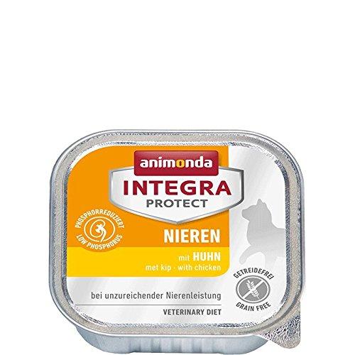 animonda Integra Protect Nieren mit Huhn | Diät Katzenfutter | Nassfutter bei chronischer Niereninsuffizienz (16 x 100 g)