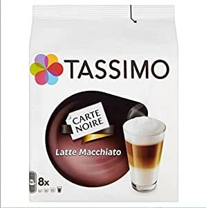 TASSIMO Carte Noire Latte Macchiato 16 Capsules, 8 Servings (Pack of 5, Total 80 Capsules, 40 servings)