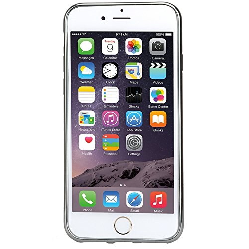 iPhone 7 Hülle, Yokata Glitzer Silikon Weich Case mit Bumper Bling Luxury Dünn Case Schutzhülle Protective Cover Silber