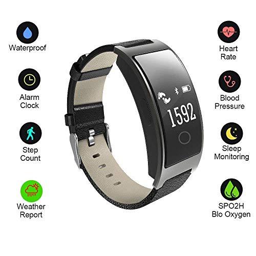Hangang Smartwatch Fitness Tracker Intelligente Bracciale Orologio Tracker frequenza cardiaca pressione arteriosa di ossigeno monitor per iOS e Android