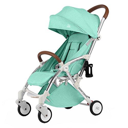 My-Wagen Kinderwagen Ultra Light Portable Folding Kann Sitzen Baby Kind Kind Einfache Mini Regenschirm Aluminiumlegierung (Farbe : Grün)