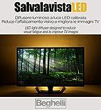 SALVALAVISTA LED BEGHELLI BACKLIGHT LUCE TELEVISIONE PROTEGGE GLI OCCHI PROTEZIONE TV DA...