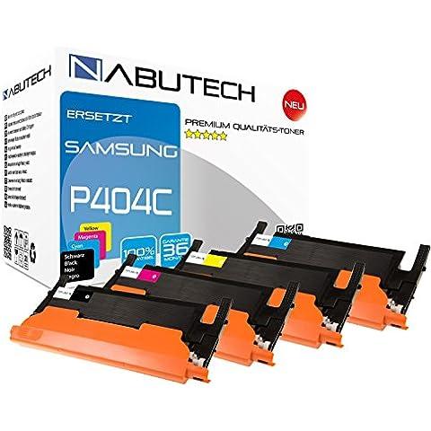 4Original nabutech Toner con 50% más potencia Después de impresión (Norma ISO 19798) sustituir clt-p404C p404C clt-p404C clt-k404s clt-m404s clt-y404s clt-c404s Samsung Xpress C430C430W C480C480fn c480fw c480W, cltp 404C cltk404s cltm404s clty404s cltc404s Samsung Xpress C430W C480C480FN C480FW C480W Negro Cian Magenta