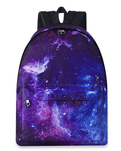 AIDEAONE Teenager Rucksäcke für die Schule Lässige Galaxy Daypack Leichte wasserdichte Bookbag für Jungen Mädchen