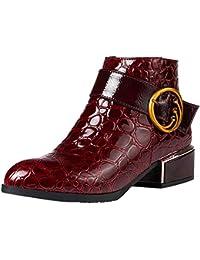 Cremallera Lateral Tacones Altos Bota Martin Zapatos con diseño de cocodrilo Botines LILICAT® Botas de cocodrilo Botas de…