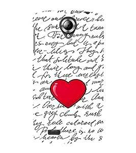 FIOBS hand writing words big heart shape love Designer Back Case Cover for Lenovo S820