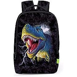 Children's Backpacks - Mochila infantil negro dinosaurio