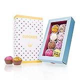 8 American Cupcakes - Cupcake-Pralinen, originelle Süßigkeiten, besondere Pralinen als Dankeschön