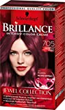 Brillance Intensiv-Color-Creme 705 Dunkler Rubin Jewel Collection, 3er Pack (3 x 143 ml)