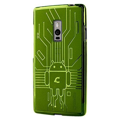 CruzerLite Bugdroid Schlussfall für OnePlus Two grün