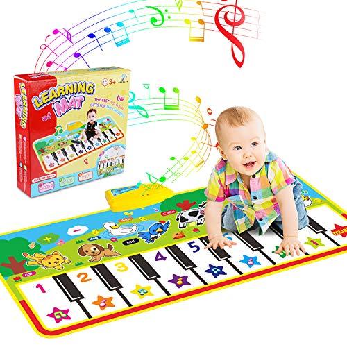 WOSTOO Alfombra para Piano, Alfombra de Teclado Táctil Musical Touch Juego Musical...