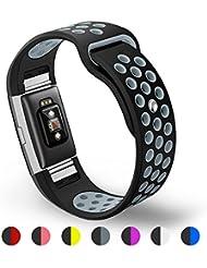 Fitbit Charge 2 Armband,Kutop Überraschendes charge 2 armbänder TPU weiches Silikon Sporty Ersetzerband Silikagel Fitness verstellbares Uhrenarmband für Fitbit Charge 2