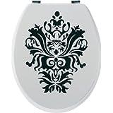 Sanwood 6094010 Abattant de WC Liz en panneau MDF Blanc/film décoratif 20 mm