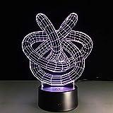 WangZJ 3D Led Lampe/Touch Sensor Nachtlicht/Beste Geschenk / 7 Farbwechsel Beleuchtung Lampe/Ideal Kunst Und Handwerk/Halloween Geschenk Doppel Liebesknoten