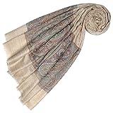 Lorenzo Cana Luxus Pashmina Damen Kaschmirschal 100% Kaschmir jacquard gewebt Paisley Muster Schal Schaltuch Kaschmirtuch Kaschmirpashmina