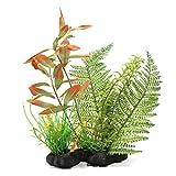 sourcingmap® Acquario plastica pianta artificiale erba legname decorazione 7.9x2.7x25pollici