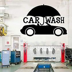 jiushizq Auto Service Pneus Boutiques De Lavage De Voitures Garage Citations Autocollants Décorations - Vinyle Autocollant pour Vitrine De Studio M 61x42cm