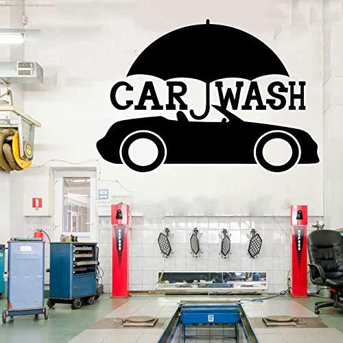 zqyjhkou Auto Service Reifen Montage Shop Auto Waschen Garage Zitate Kunst Aufkleber Dekorationen - Vinyl Aufkleber Für Studio Schaufenster Cs12 61x42 cm