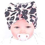 Oyedens Sombrero De Neumáticos Banda De Pelo De La Manera Del Bebé Del Arco Bufanda Bastante Lindo Sombrero De Pelo De Leopardo Del Bebé