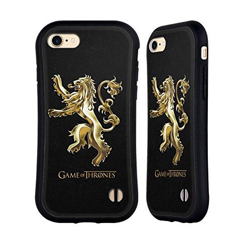 Ufficiale HBO Game Of Thrones Oro Lannister Sigilli Case Ibrida per Apple iPhone 7/iPhone 8