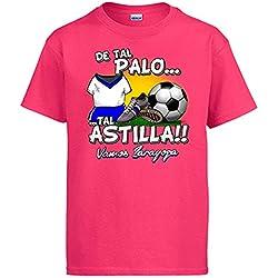 Camiseta De tal palo tal astilla Zaragoza fútbol - Rosa, 5-6 años