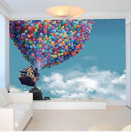 emälde Wallpaper Hot Air Ballon Blue Sky White Clouds Hintergrund Large Wall Painting Living Room Breite 250cm * Height175cm pro ()