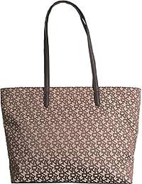 DKNY - Bolso al Hombro de Lona para Mujer Marrón Chino 43cfe273993e