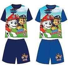 Patrulla Canina- Conjunto de Pantalon y Camiseta Manga Corta Verano (4, azul marino)