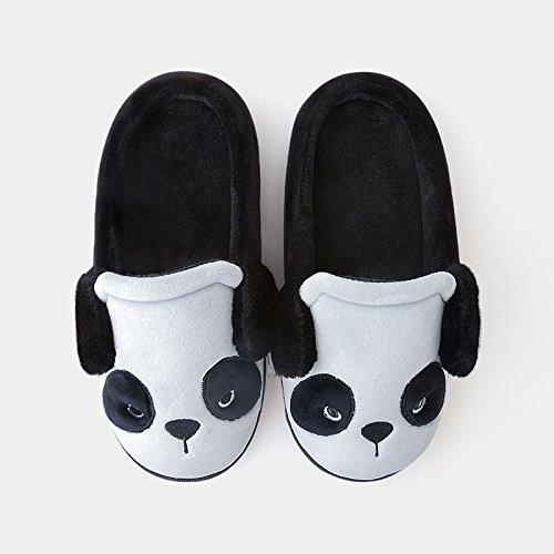 Doghaccd Pantoufles, Maison Paire De Pantoufles En Coton Épais Femelle Pour Rester Au Chaud Chaussures D'hiver Cartoon Belles Pantoufles De Laine Piscine, Lumière Rose Lumière Lighthose Gray3