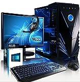 'VIBOX Cetus package54 Gaming PC con WarThunder, 21.5 HD monitor, 4 Ghz Intel i7 quad core procesador, NVIDIA GeForce GTX 980 Ti tarjeta gráfica, 3TB Disco Duro, 240 GB SSD, 32 GB RAM, Tactician Neon Azul