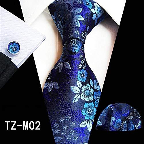 Dunkelblaue Krawatte Mit Karomuster Aus Jacquardgewebe Krawatte