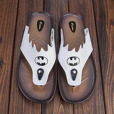 Slippers & amp da uomo;Pelle Estate laccio dietro Comfort Light Soles microfibra Outdoor casual F sandali US10 / EU43 / UK9 / CN44