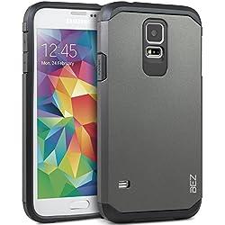Coque Samsung Galaxy S5 / S5 NEO, Housse Etui Antichoc Survivor Double Protection pour Samsung Galaxy S5 / S5 NEO Resistante - Argent